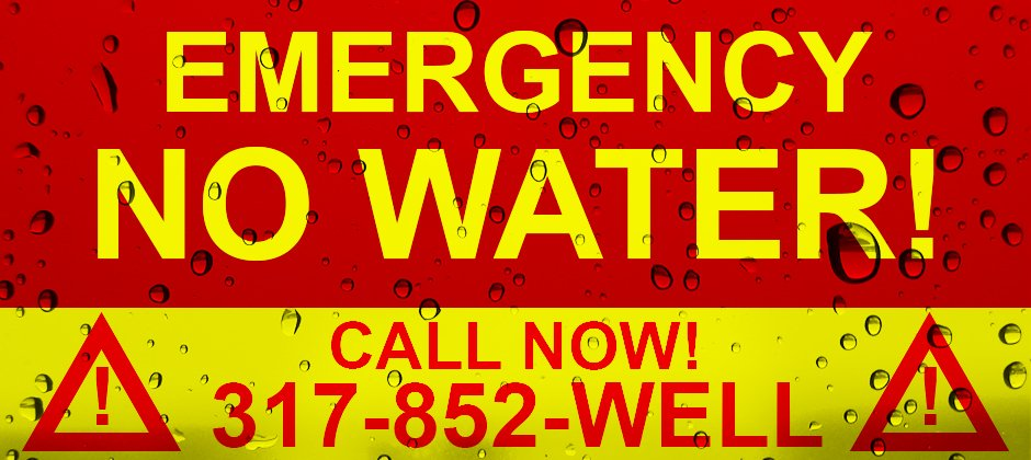 Emergency - No Water? Call us now!