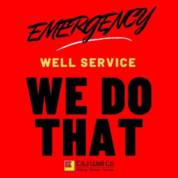 emergency well service