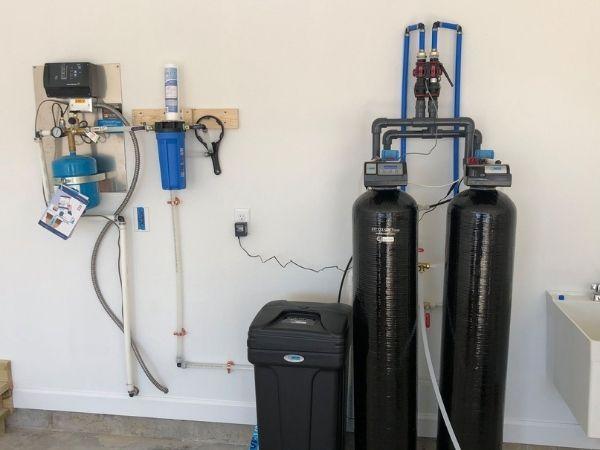 dual-tank water softener